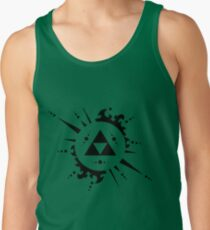 Triforce Black and White Tank Top