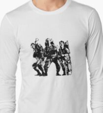 Ghostbusters Film Poster Silhouette Long Sleeve T-Shirt