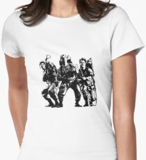 Ghostbusters Film Poster Silhouette Women's Fitted T-Shirt