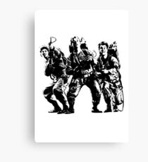 Ghostbusters Film Poster Silhouette Canvas Print