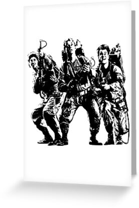 Ghostbusters Film Poster Silhouette by electricFIELD