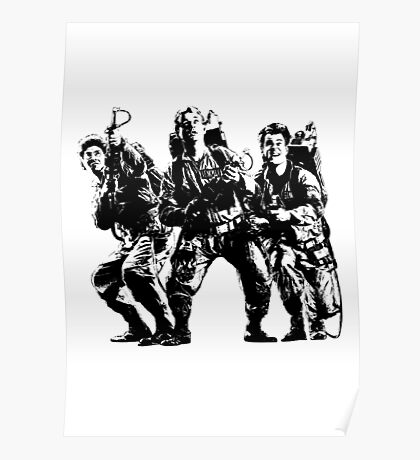 Ghostbusters Film Poster Silhouette Poster