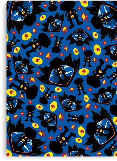 Superhero Silhouette Pattern by MurphyCreative