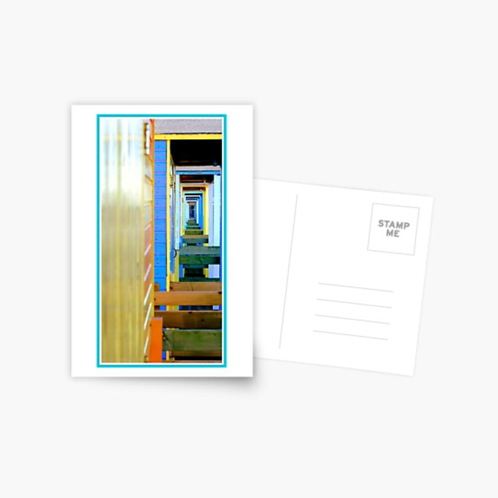 Beach hut infinity Postcard