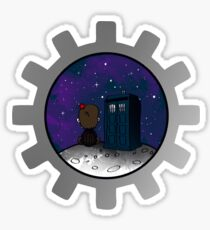 dr whonuts  Sticker