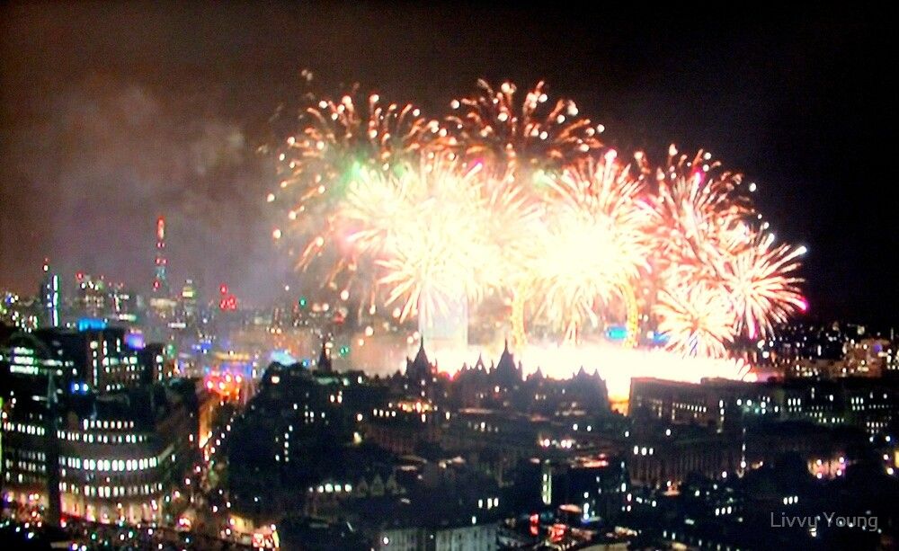 Fireworks over London. by Livvy Young
