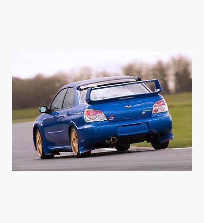 Blue Subaru Impreza WRX STi Photographic Print