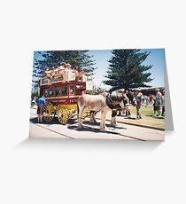 Victor Harbor Horse Tram Greeting Card
