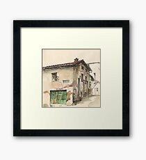Casa frente a La Cueva Framed Print