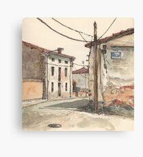Casas en la carretera Canvas Print
