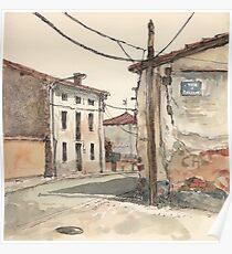 Casas en la carretera Poster