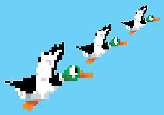 8-Bit Nintendo Duck Hunt 'Trio' by electricFIELD