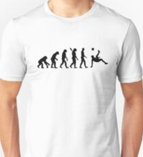 Evolution soccer bicycle kick Slim Fit T-Shirt