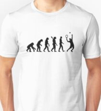 Evolution Tennis player  Slim Fit T-Shirt