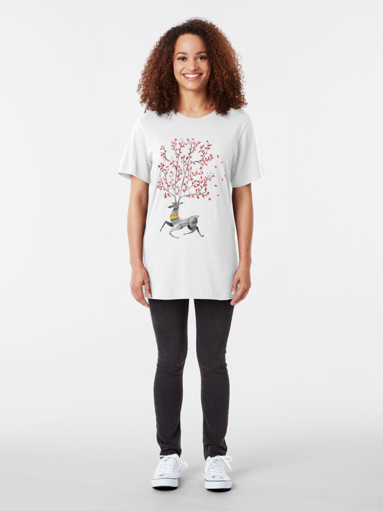 Alternate view of King of the forest Slim Fit T-Shirt