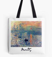 Monet: Impressions of Sunrise Tote Bag