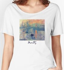 Monet: Impressions of Sunrise Women's Relaxed Fit T-Shirt