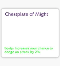 Chestplate of Might Sticker
