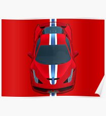 458 Red Horses Poster