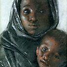 Madonna and child  pastels by Josef Rubinstein