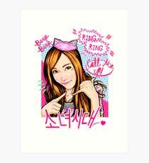 SNSD Jessica - Beep Beep Theme Art Print