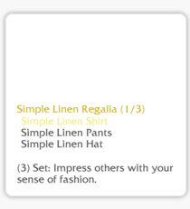 Simple Linen Shirt (set item) Sticker