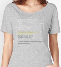 Simple Linen Shirt (set item) Women's Relaxed Fit T-Shirt