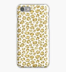 Glamorous Faux Sparkly Gold Leopard iPhone Case/Skin