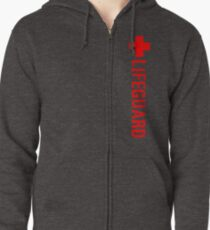 Lifeguard (Red Vertical Variant) Hoodie Zipped Hoodie