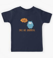 Owls Are Judgmental Kids Tee