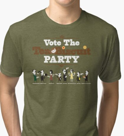 Vote the Tea & Biscuit Party Tri-blend T-Shirt
