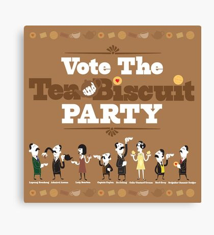 Vote the Tea & Biscuit Party Canvas Print