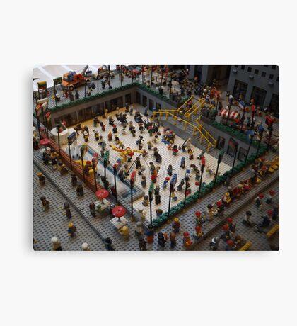 Lego Rockefeller Center Skating Rink, Lego Rockefeller Center Store, New York City  Canvas Print