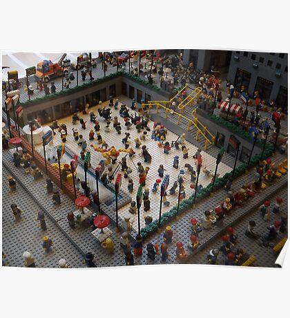 Lego Rockefeller Center Skating Rink, Lego Rockefeller Center Store, New York City  Poster