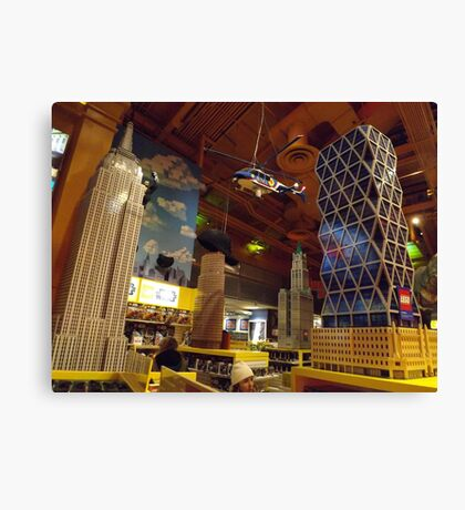 Lego New York City Skyscraper, Helicopter, Toys R Us, Times Square, New York City Canvas Print