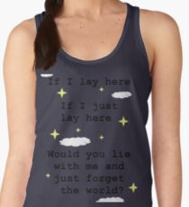 Chasing Cars Quote Women's Tank Top