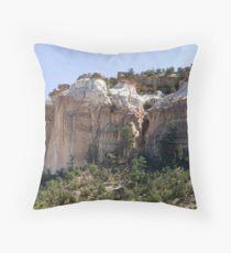 Sandstone Cliffs Throw Pillow