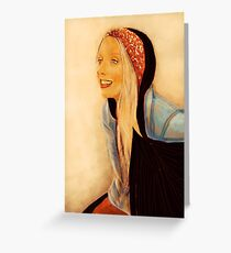 Anita with Black Scarf Greeting Card