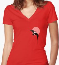 Crow Women's Fitted V-Neck T-Shirt