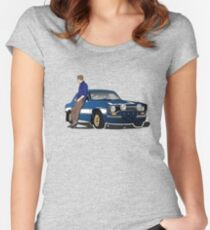 Paul Walker interpretation art - Fast Furious 7 Women's Fitted Scoop T-Shirt