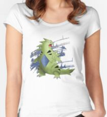 Tyranitar with Blue Rocky Scratches Women's Fitted Scoop T-Shirt