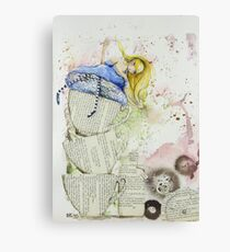 Alice and the Teacups Canvas Print