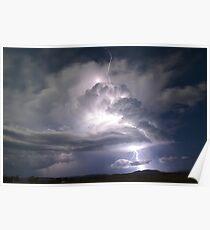"""Lightning super cell"" Poster"