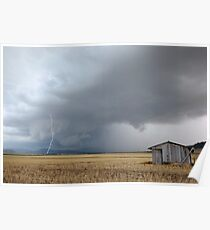 """Pilton Valley lightning strike""  Poster"