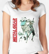 Metal Gear Solid Women's Fitted Scoop T-Shirt