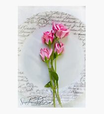 Message on a Plate  Photographic Print