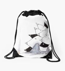 pod birds #02 Drawstring Bag