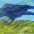 Grazing Crow by Marcie Wolf-Hubbard