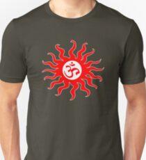ohm mantra om yoga indian symbol sun Unisex T-Shirt