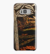 paper trees & pod birds  Samsung Galaxy Case/Skin